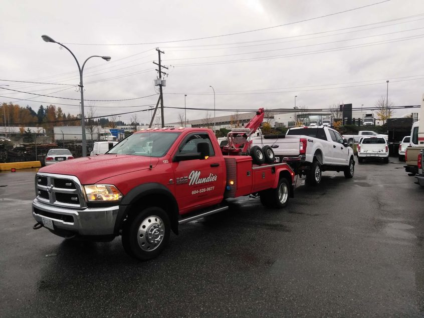 Tow truck in Burnaby towing car
