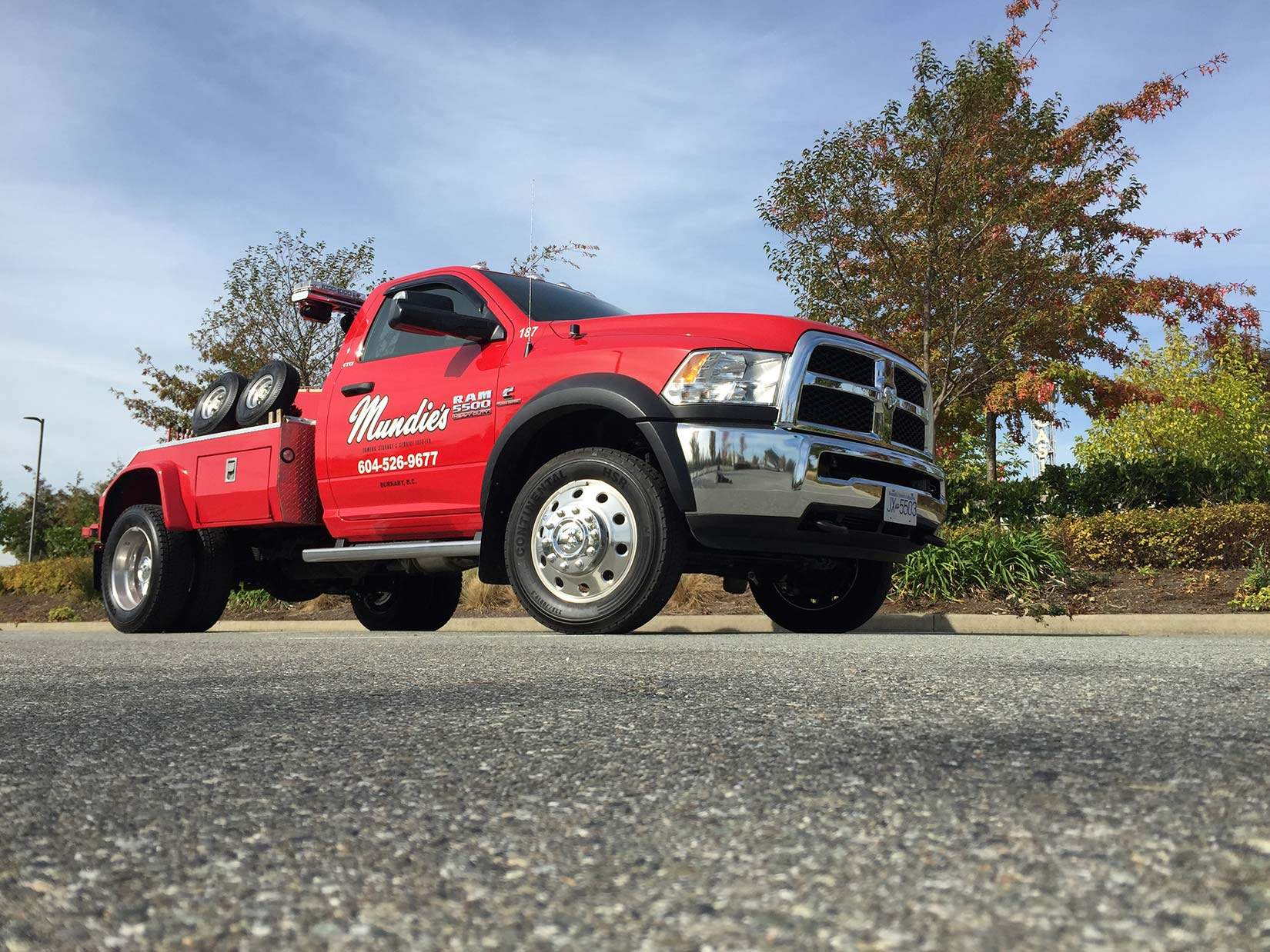 Our Vancouver tow truck can tow any size of the vehicle.